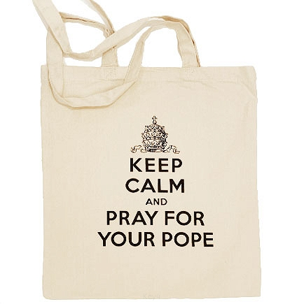 "torba ""Keep Calm and Pray for Your Pope"""